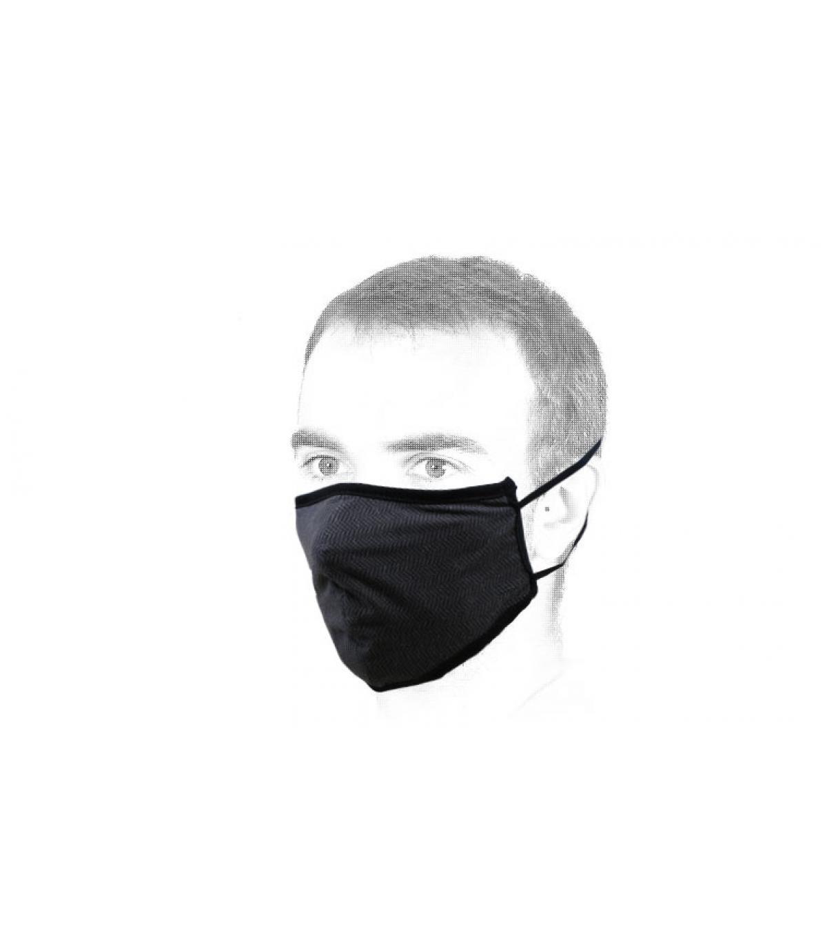 máscara negro Brixton