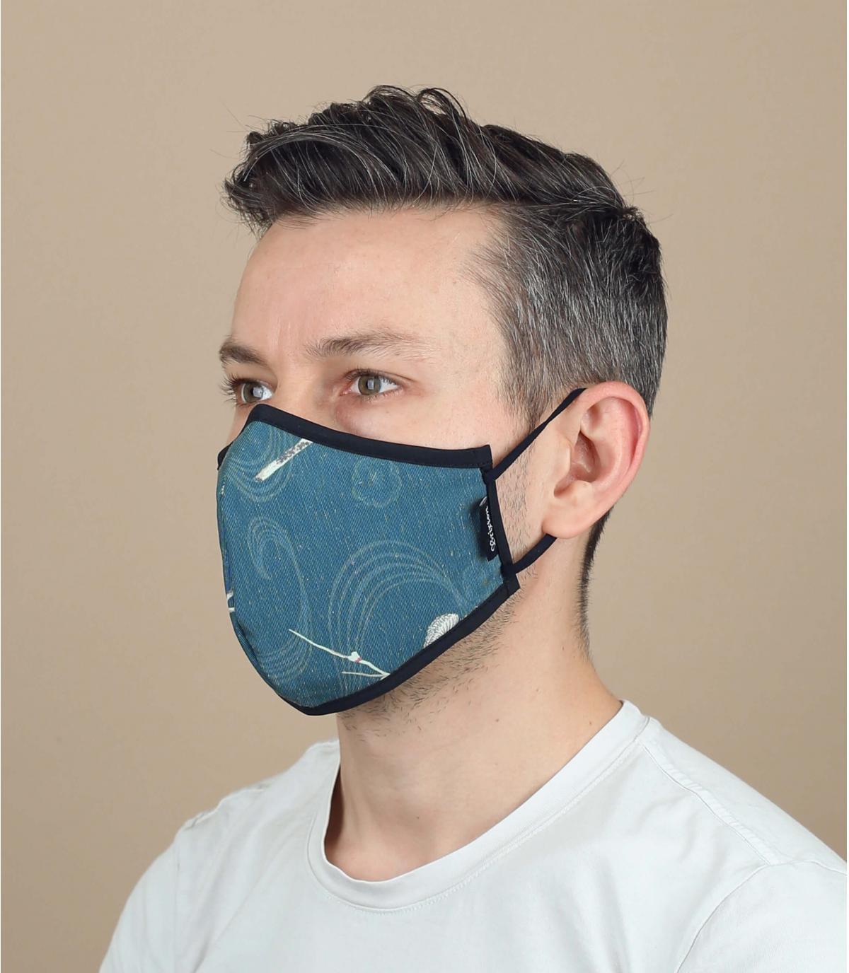 máscara flores coronavirus