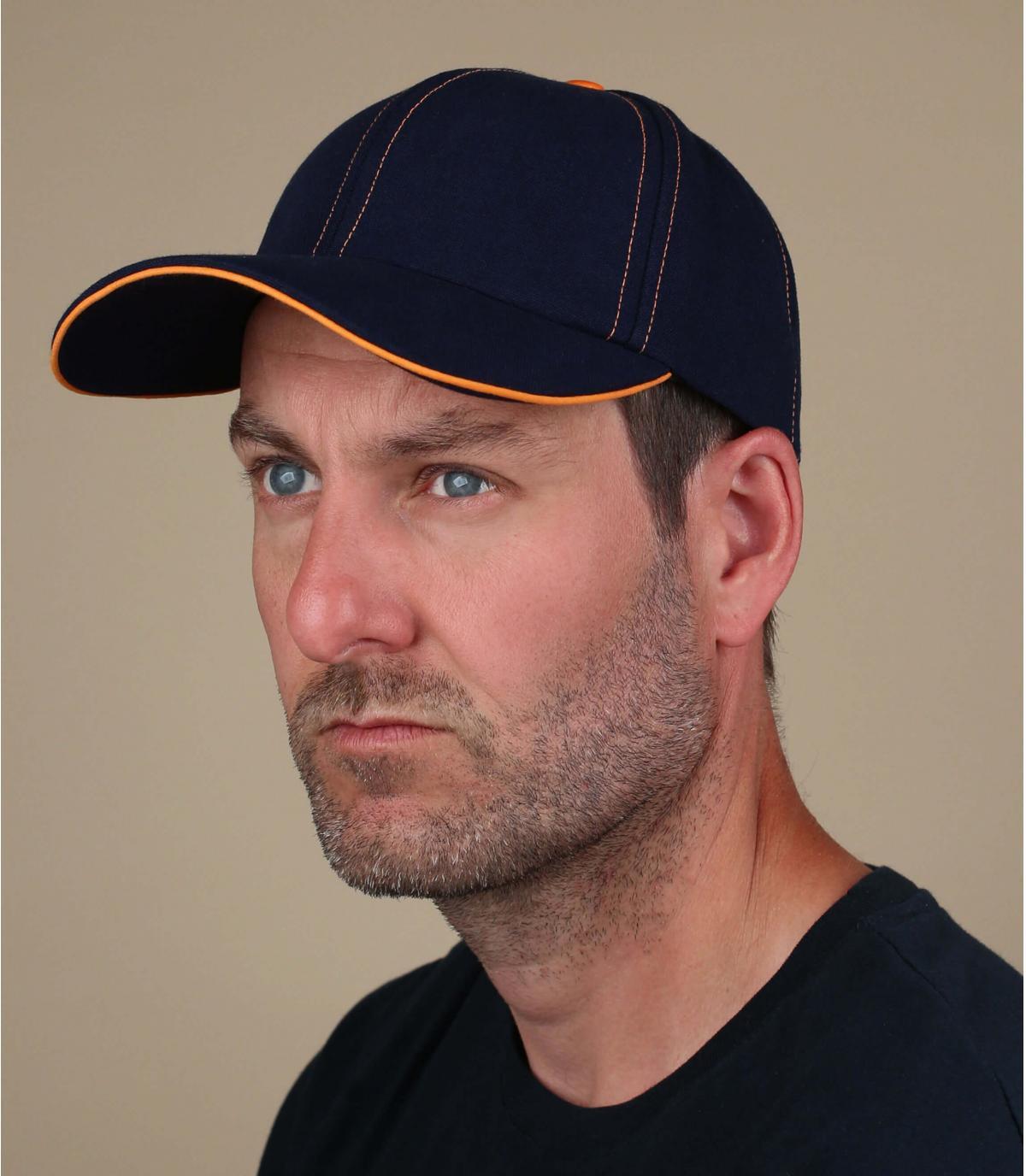 gorra azul naranja Le Chapoté