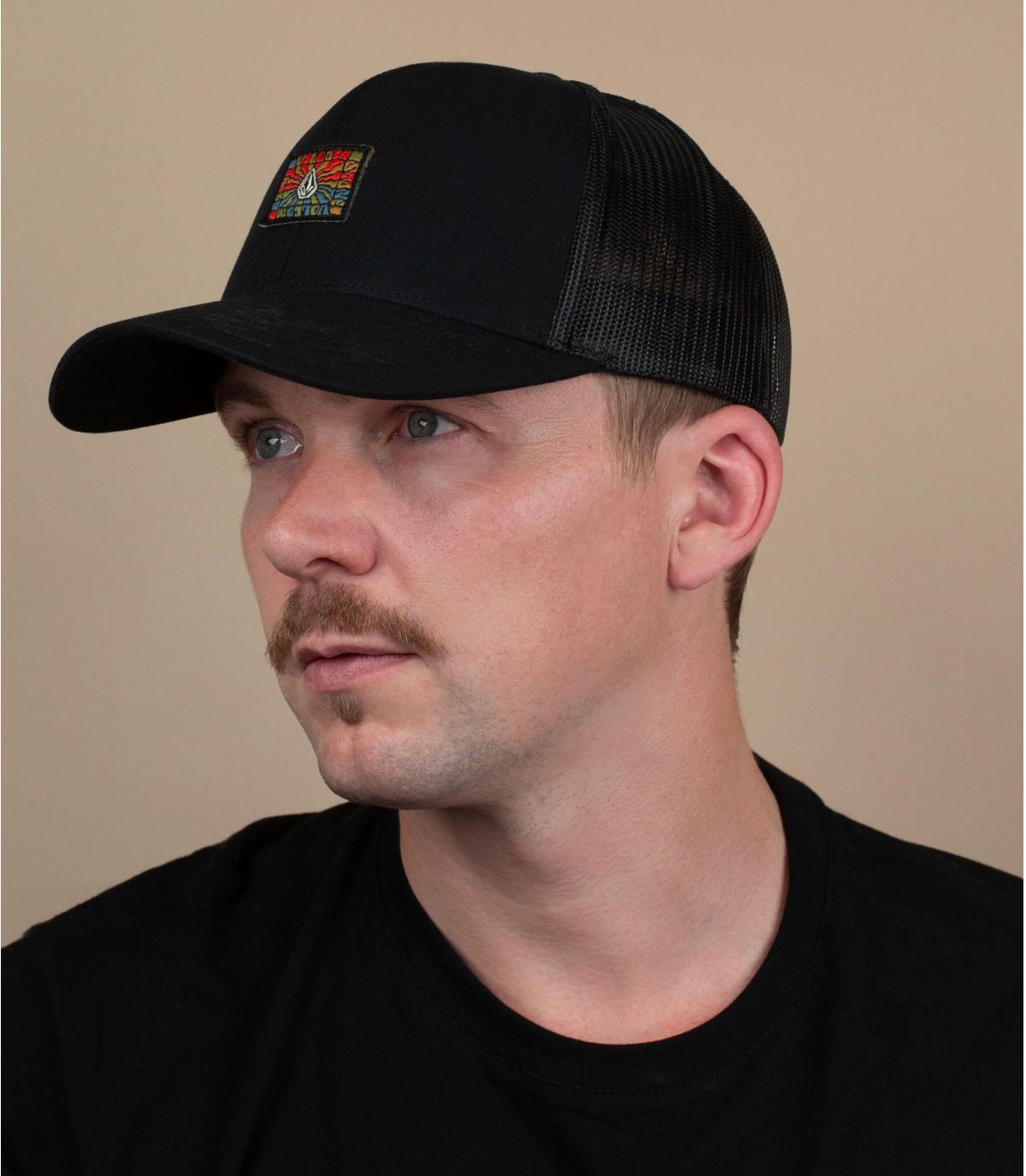 trucker Volcom negro parche