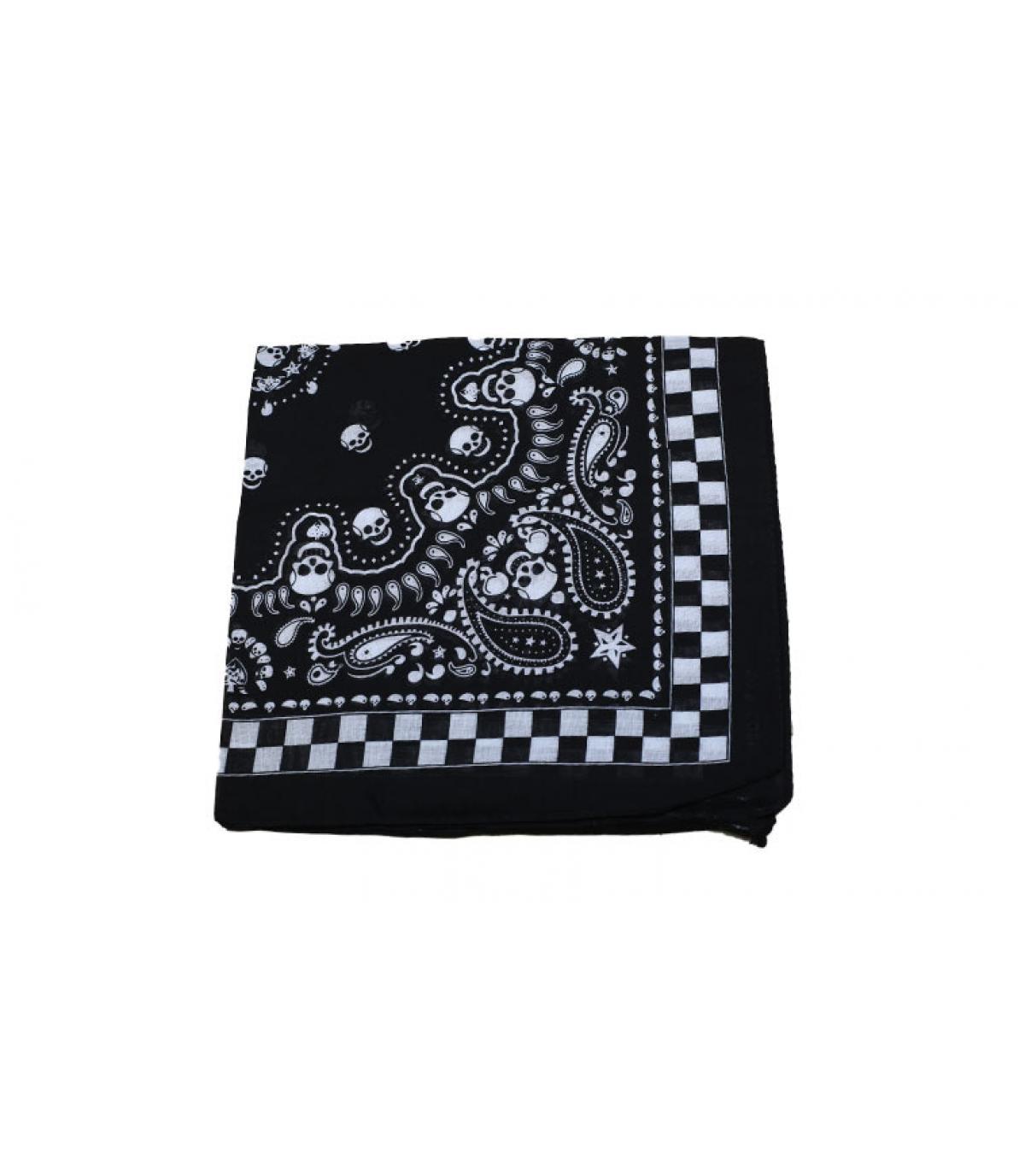 bandana negro calavera