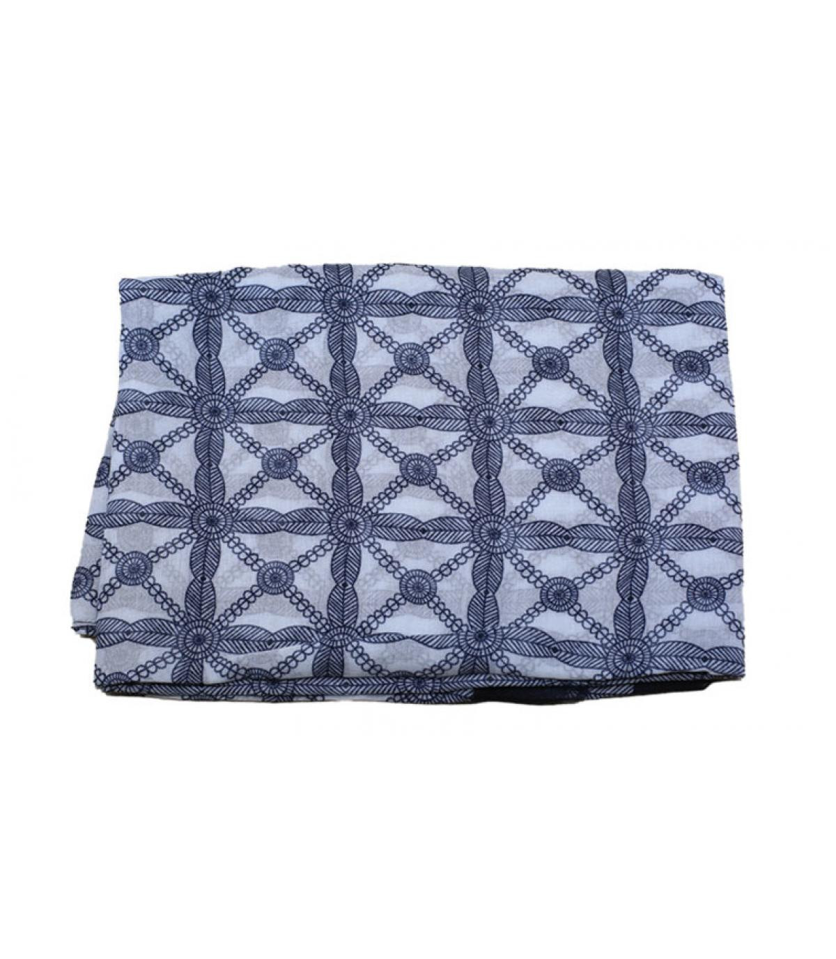 pañuelo azul blanco