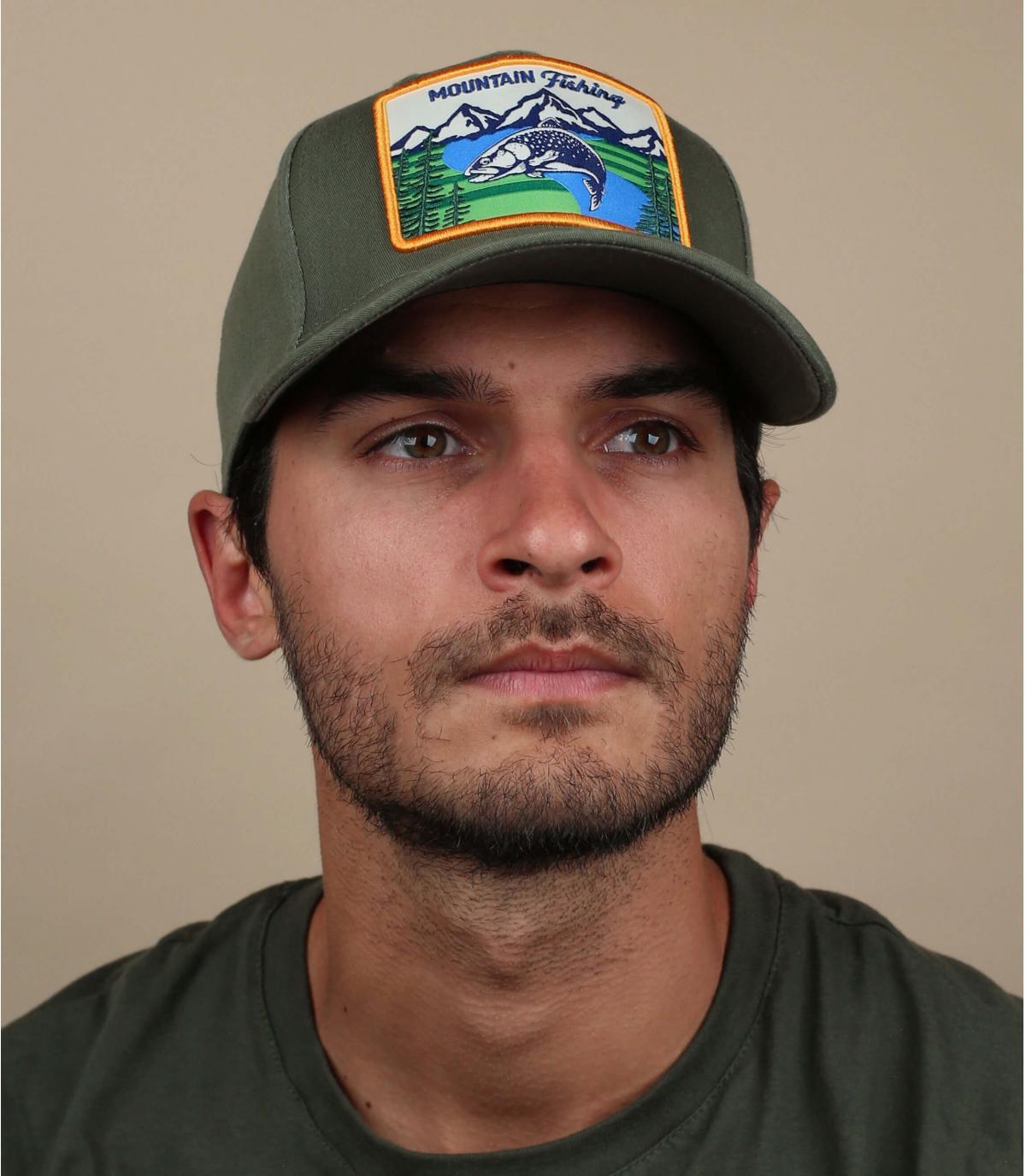 Gorra verde naturaleza