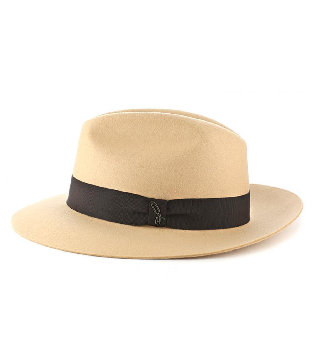 Sombrero feutre Doria beige