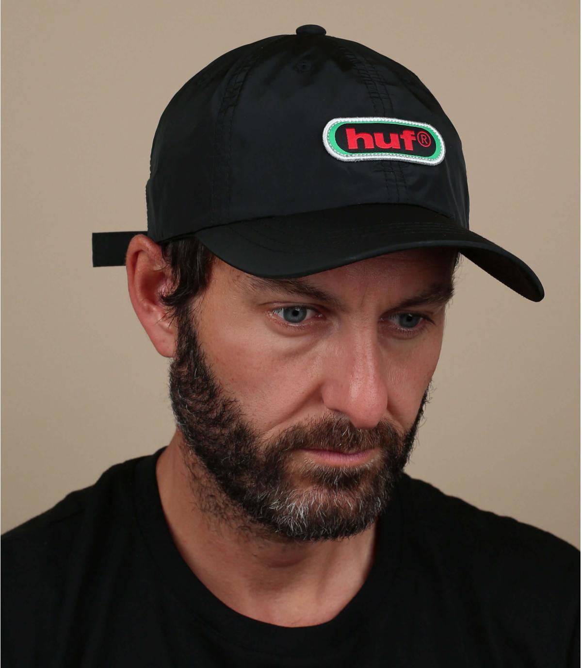 gorra negro Huf vintage