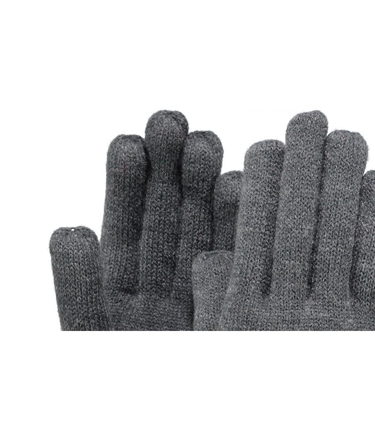 Detalles Fine knitted gloves dark heather imagen 2