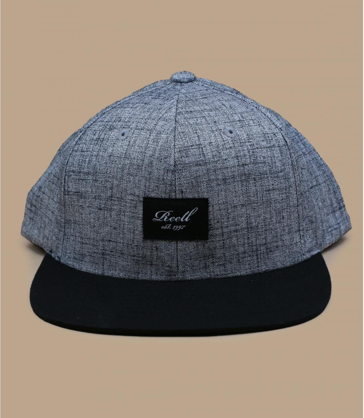 gorra gris jaspeado negro Reell
