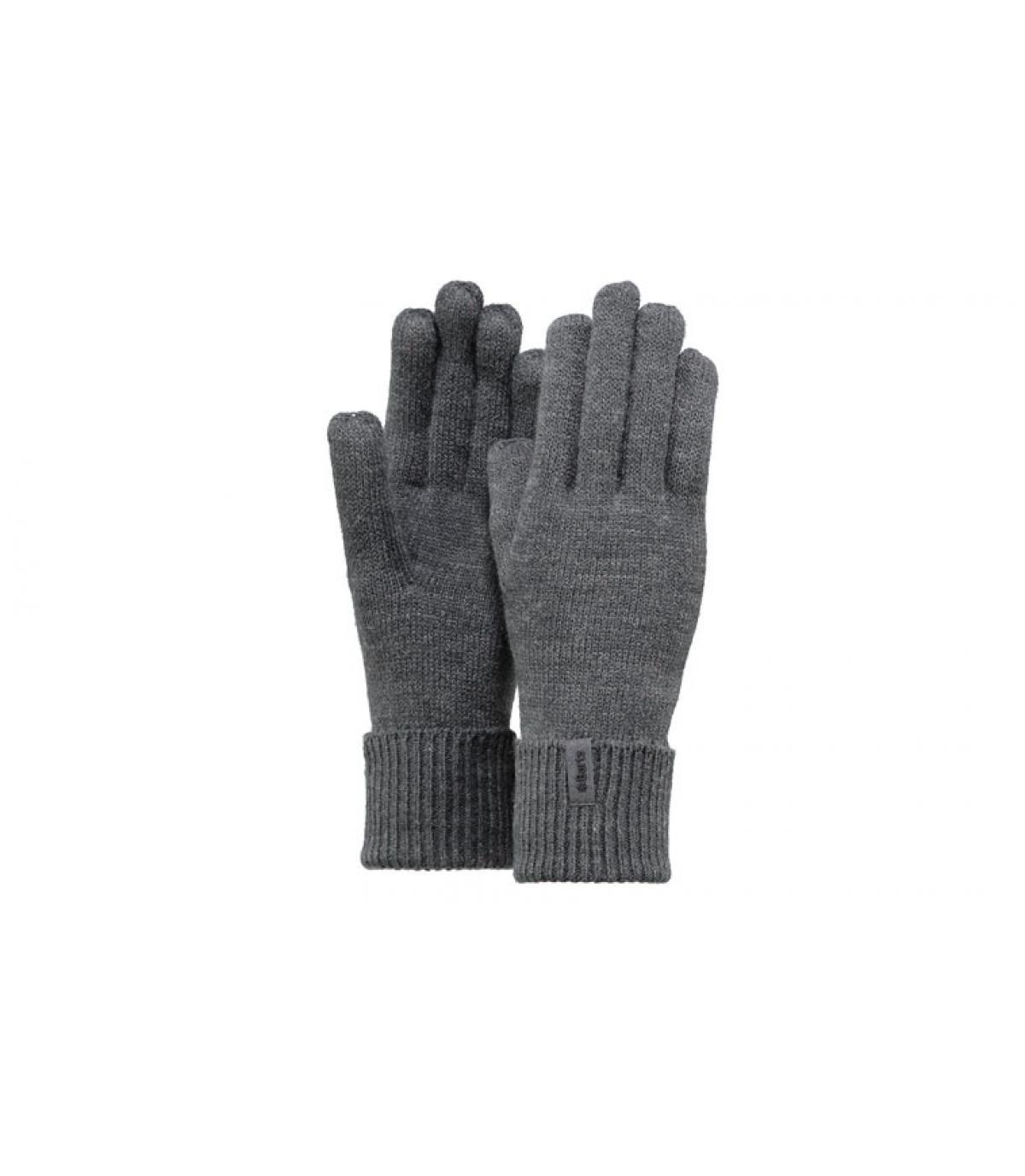 Detalles Fine knitted gloves dark heather imagen 3