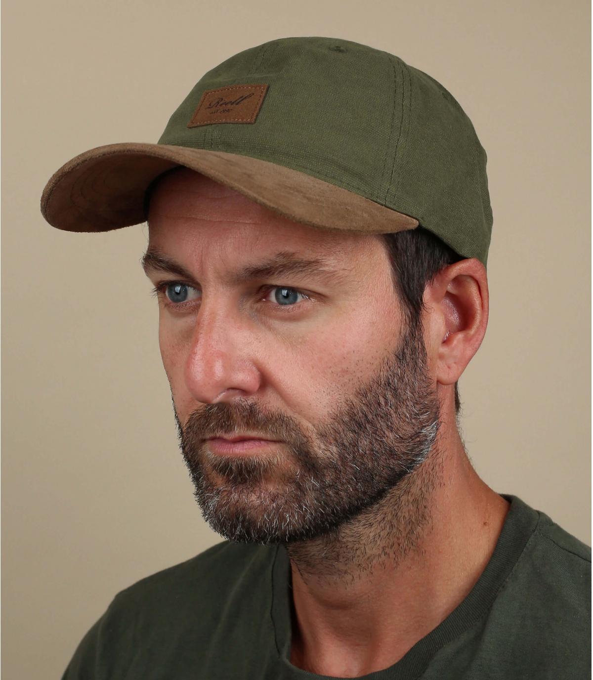 gorra curva verde ante