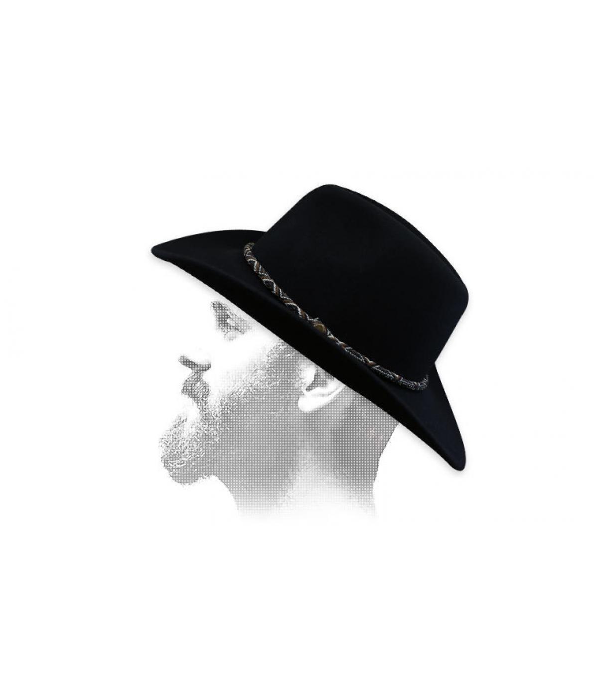 Sombrero vaquero fieltro beis