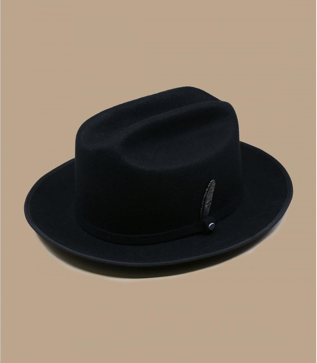 Sombrero fieltro negro Stetson