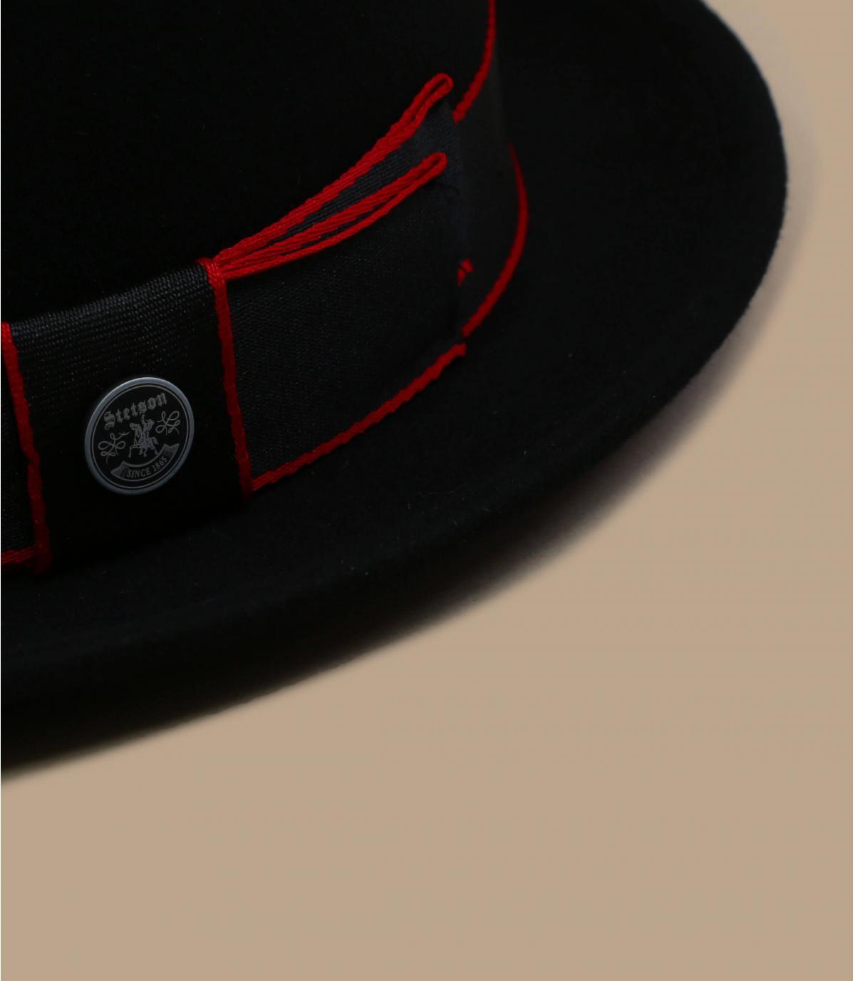 Detalles Pork Pie Woolfelt Cashmere black imagen 3