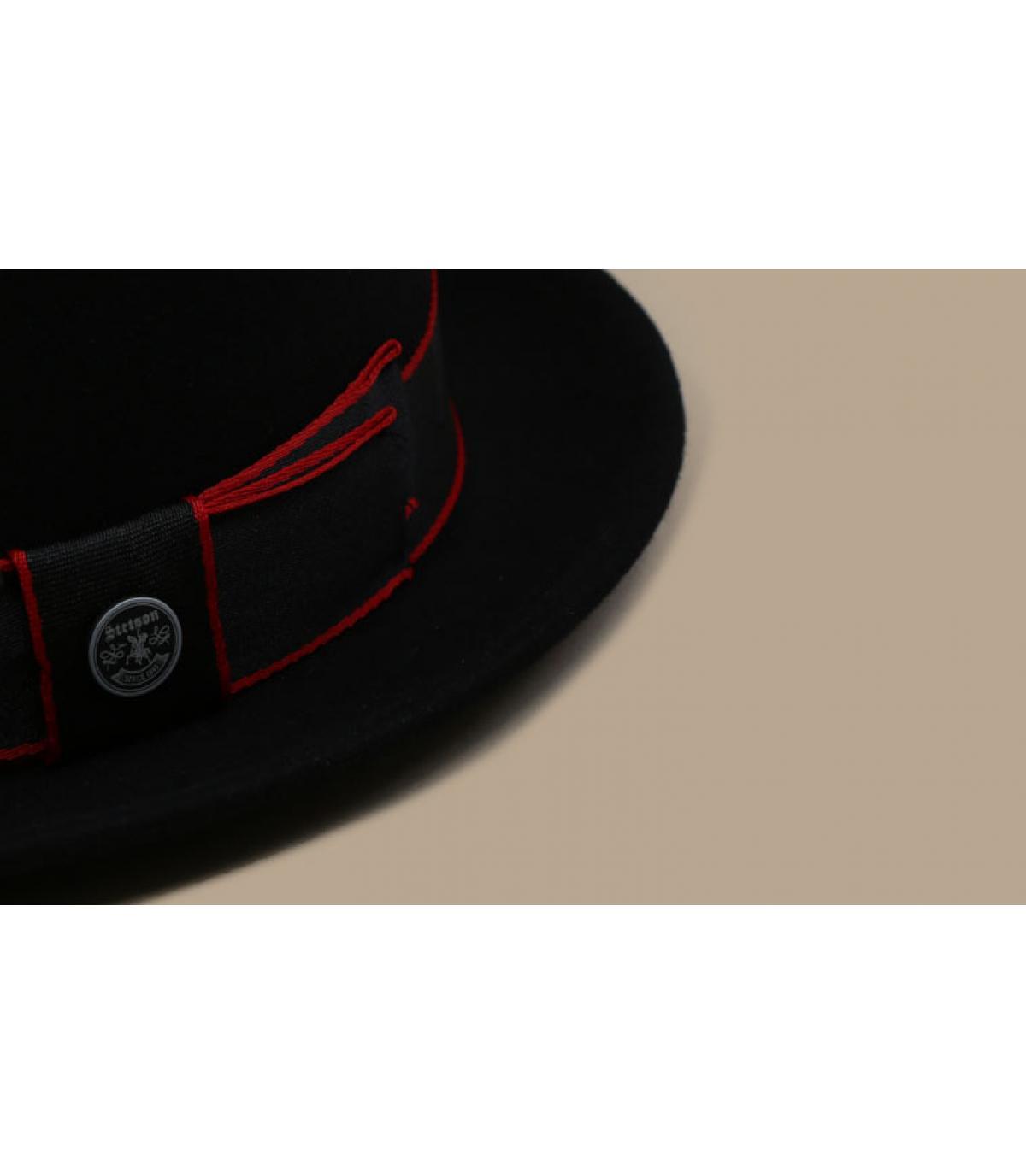 Detalles Pork Pie Woolfelt Cashmere black imagen 4