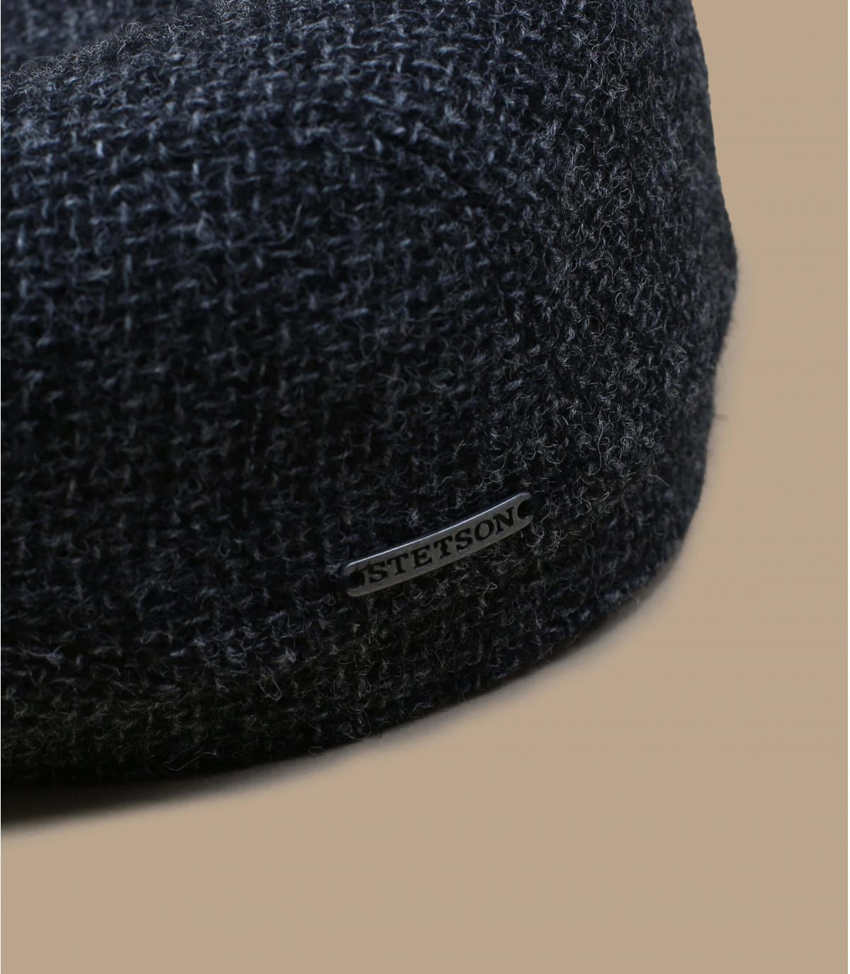 gorra gris lana Shetland