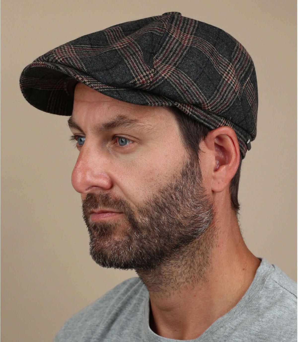 gorra repartidor cuadros lana