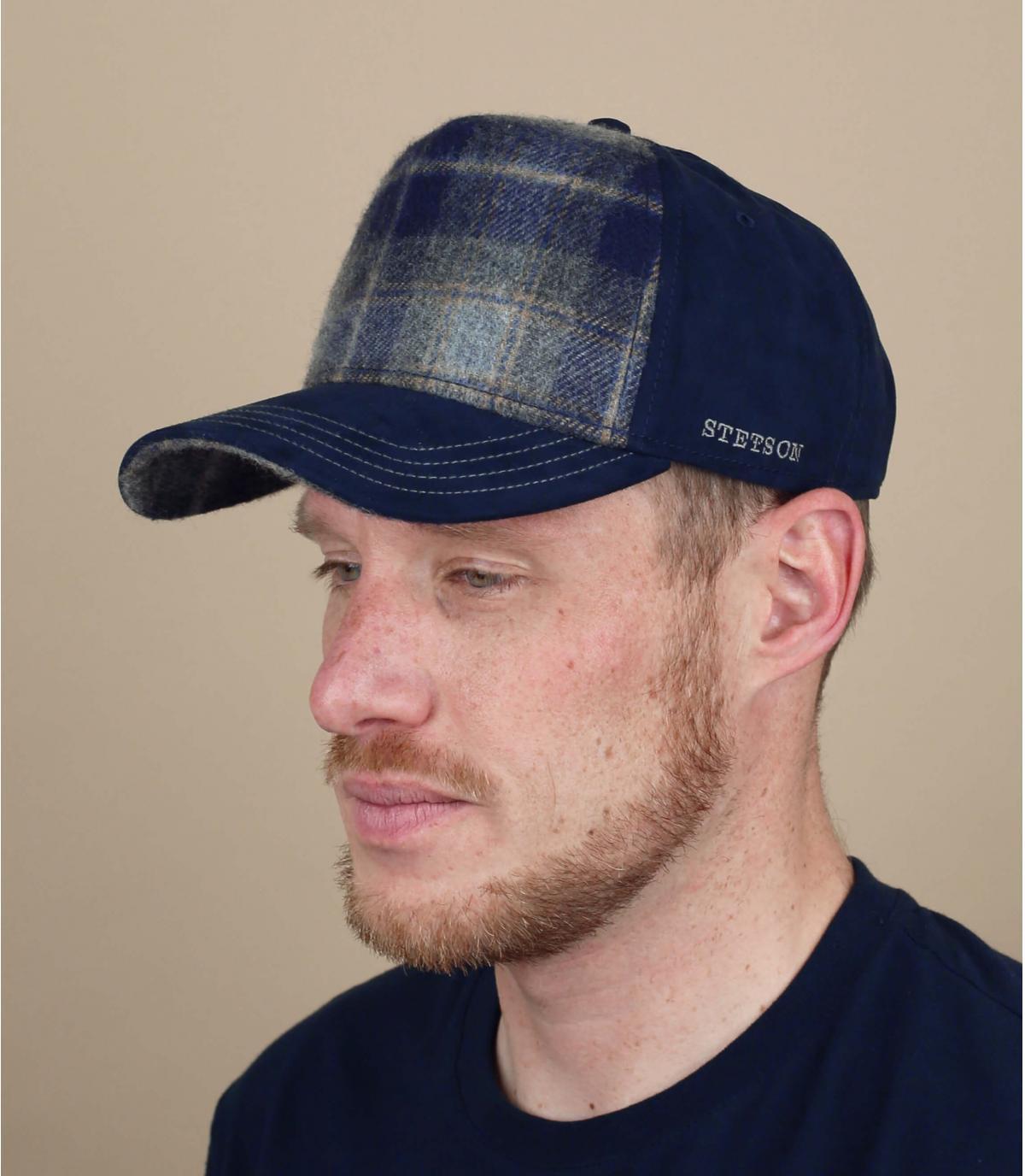 trucker lana azul