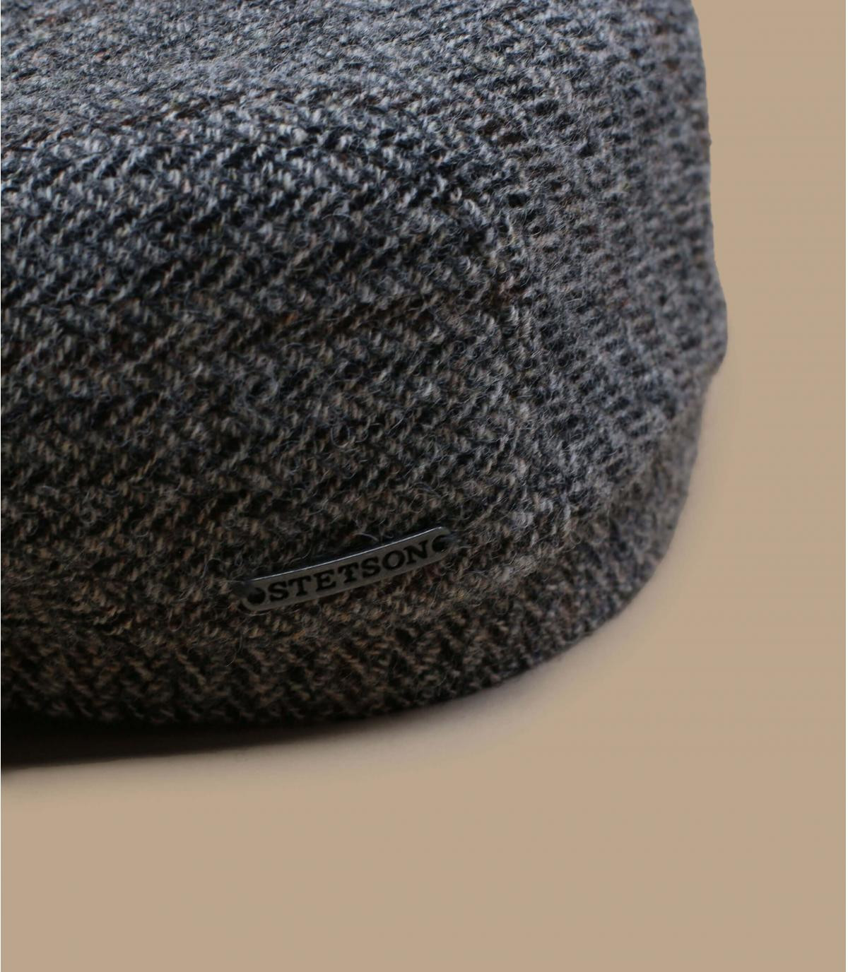 Detalles Driver Cap Virgin Wool Herringbone grey imagen 2