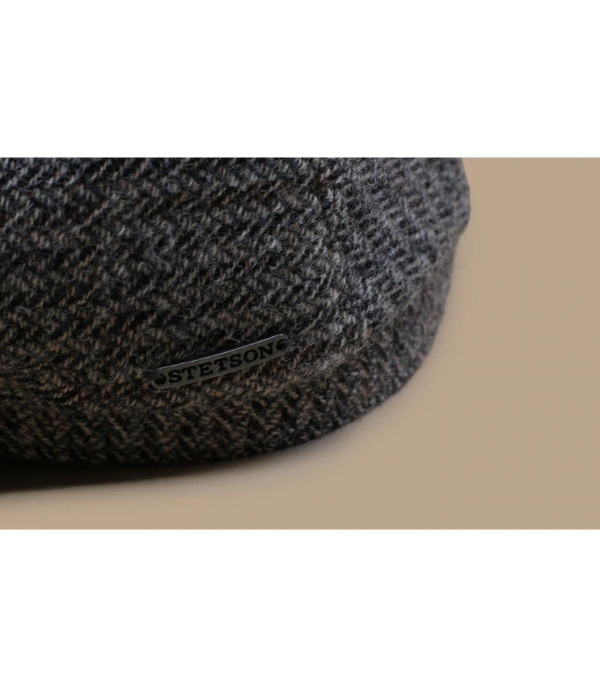 Detalles Driver Cap Virgin Wool Herringbone grey imagen 3