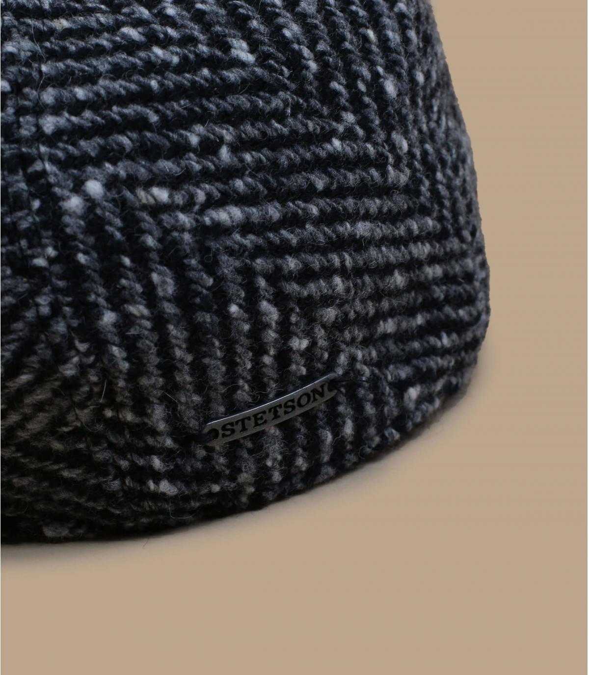 gorra lana negro blanco