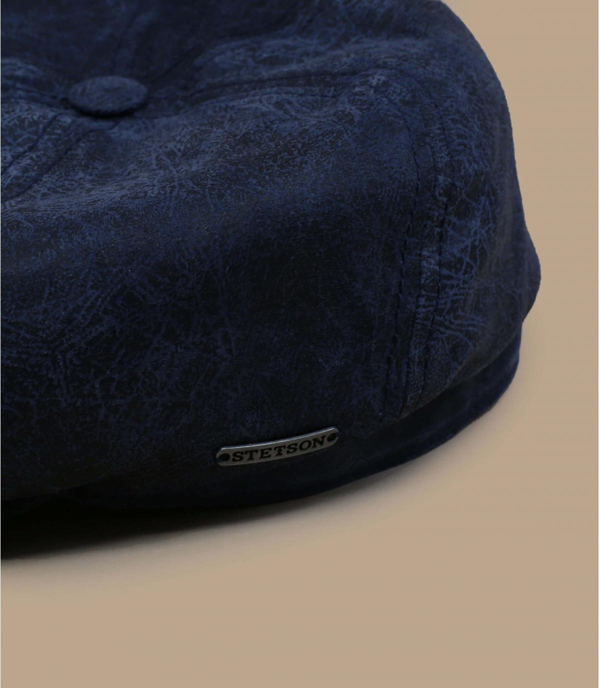 gorra repartidor cuero azul