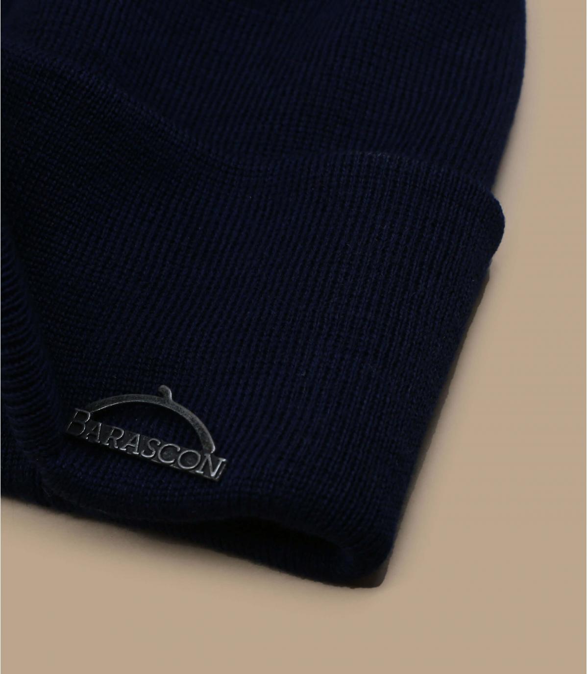 Detalles Barascon Beanie Wool Acryl navy imagen 2