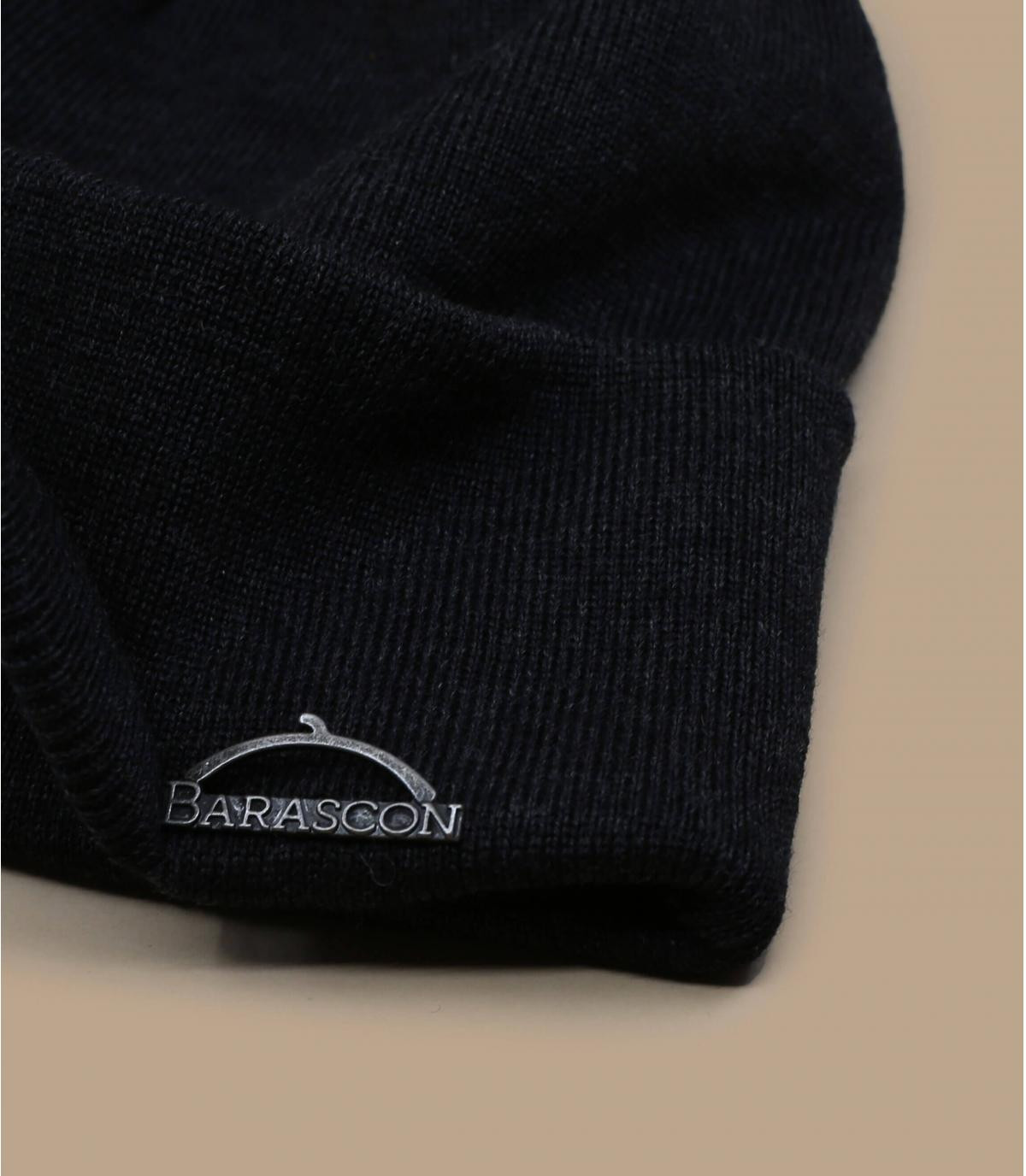 Detalles Barascon Beanie Wool Acryl dark grey imagen 2
