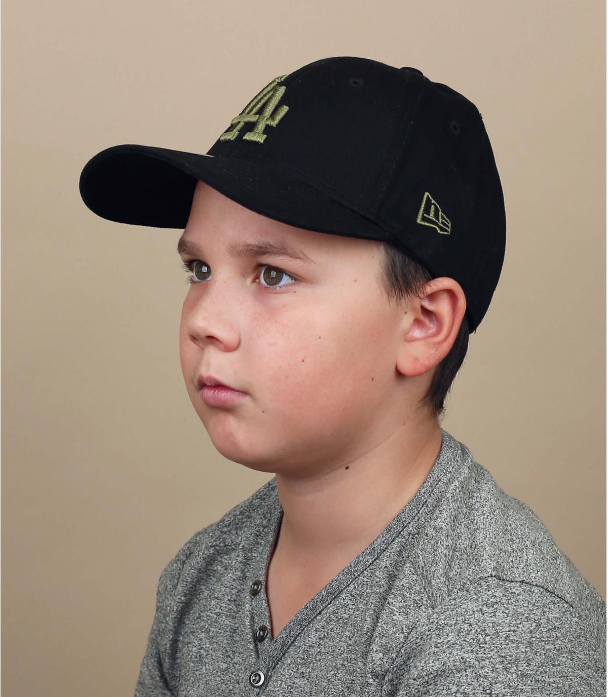 gorra niño LA negro