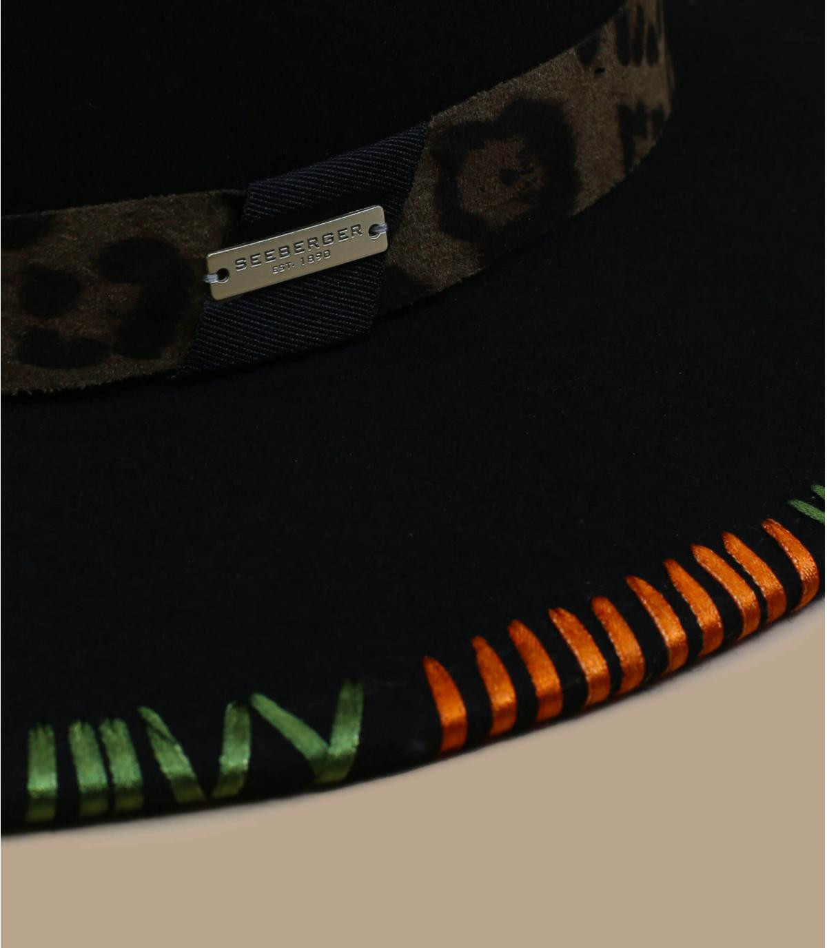 sombrero fieltro verde bordado