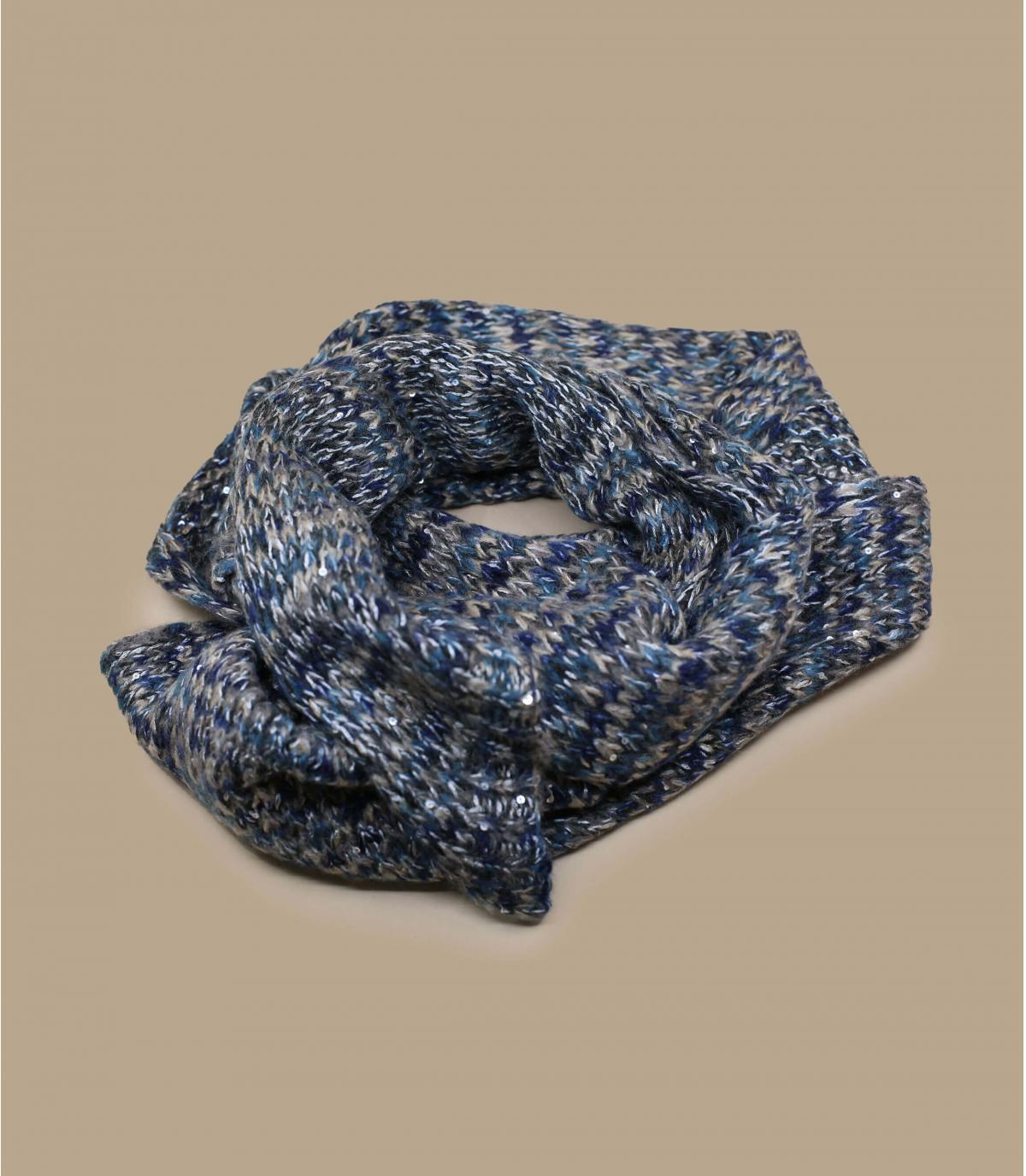 bufanda estampado gris azul
