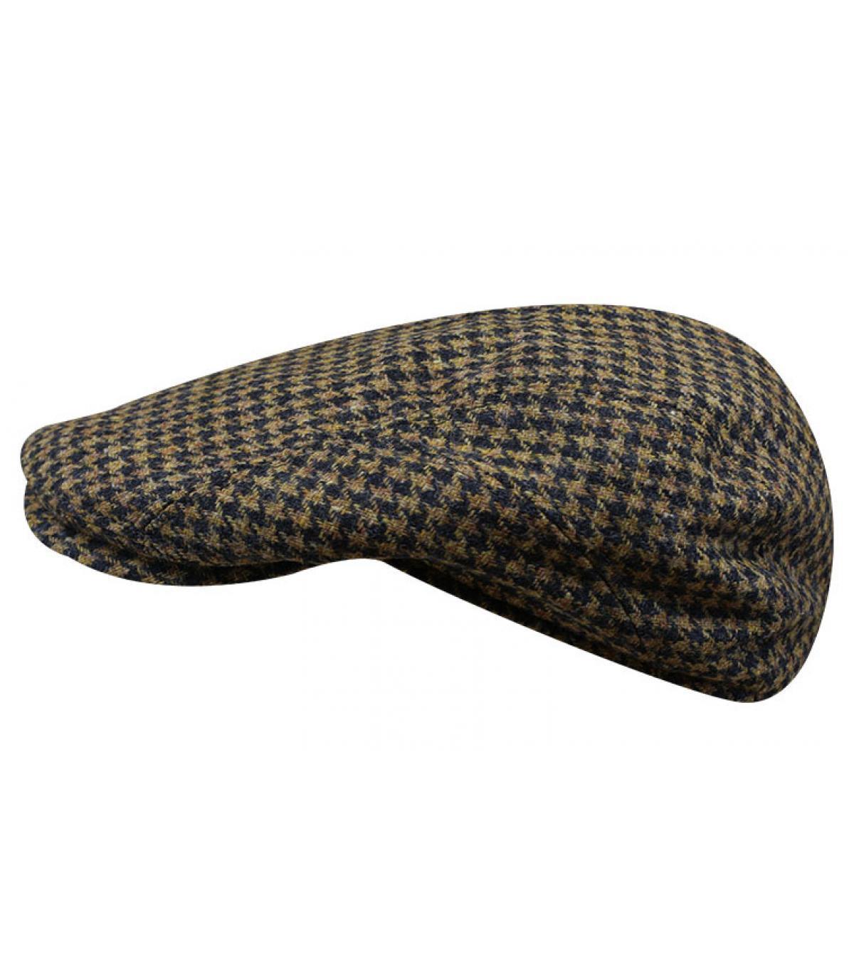 gorra pata de gallo azul lana