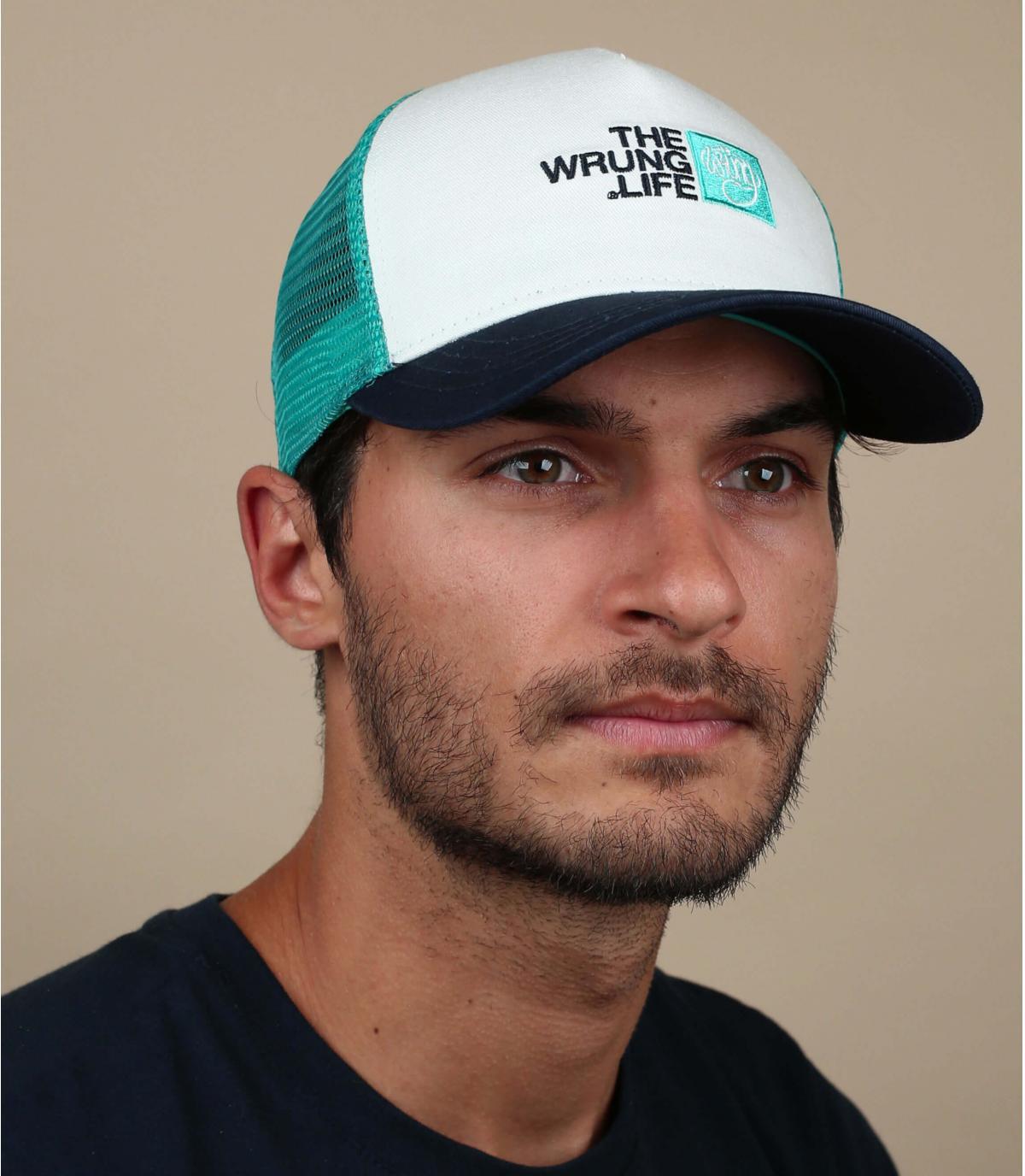 trucker Wrung verde blanco