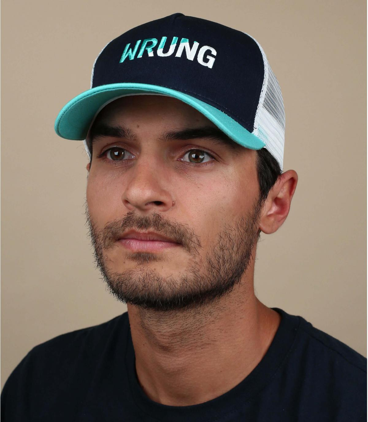 trucker Wrung azul blanco