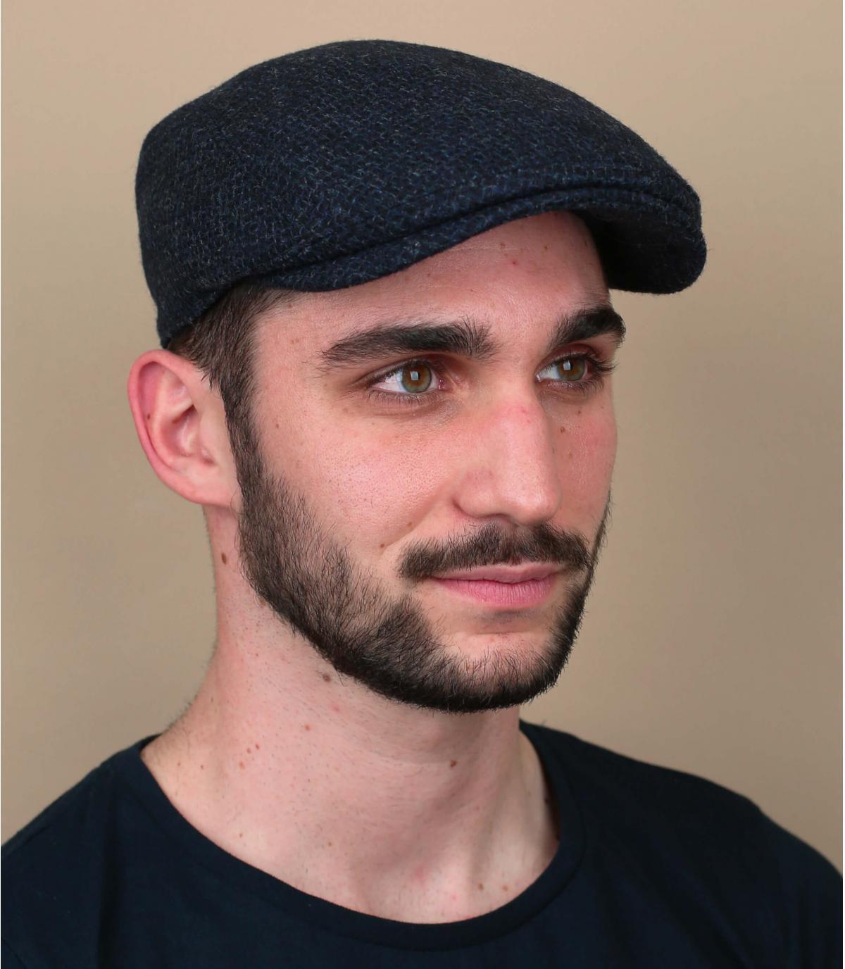 gorra lana azul