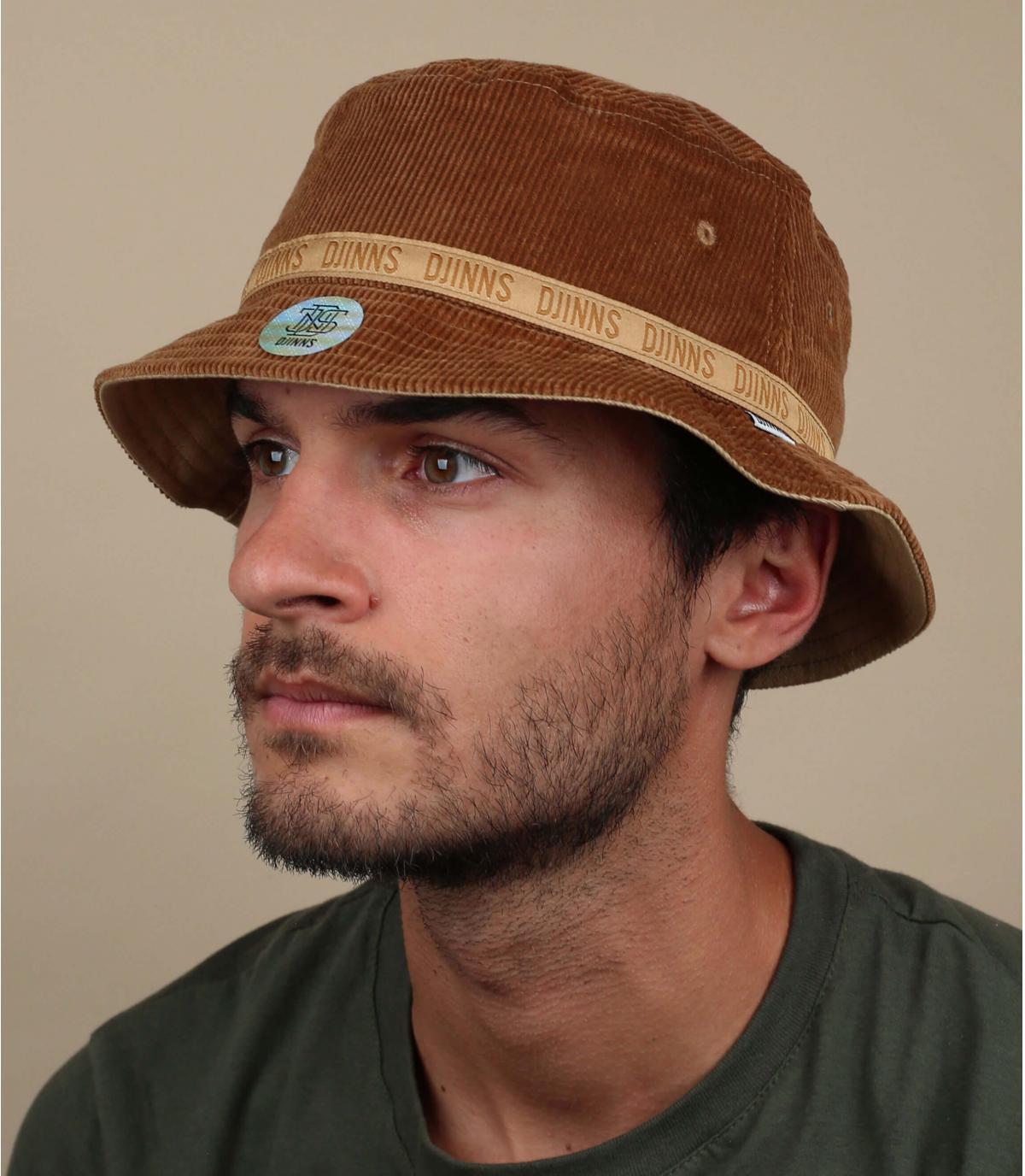 gorro pescador marrón Djinns