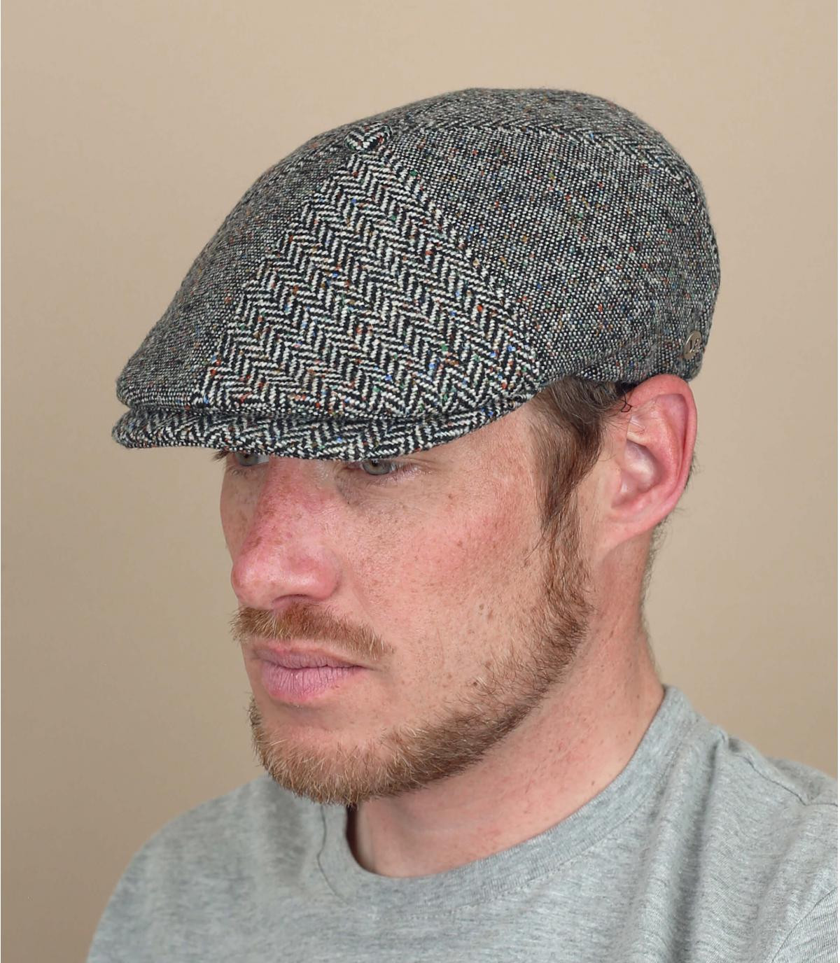 gorra repartidor gris jaspeado lana