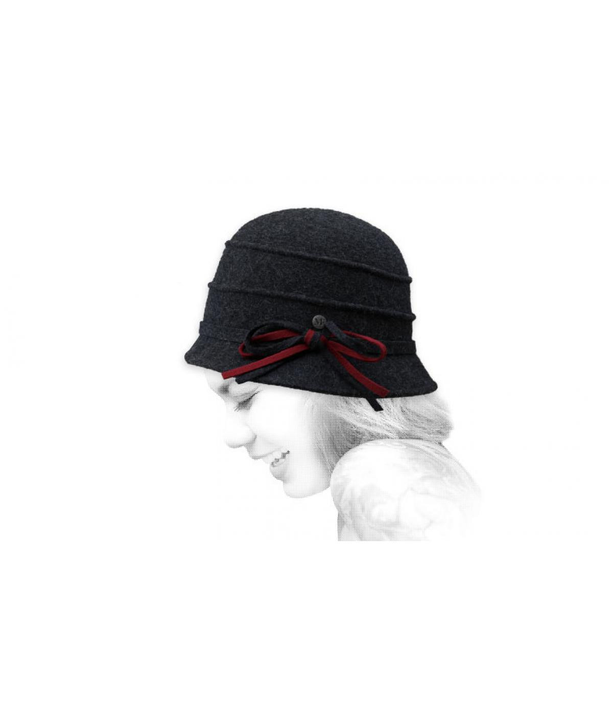 sombrero campana gris