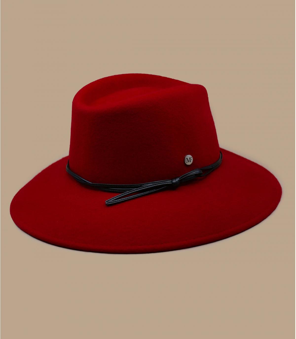 sombrero fieltro mujer rojo