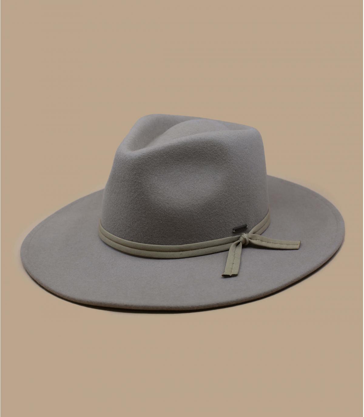 sombrero fieltro plegable beis