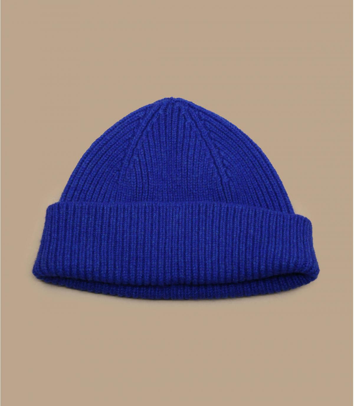 gorro docker azul lana angora