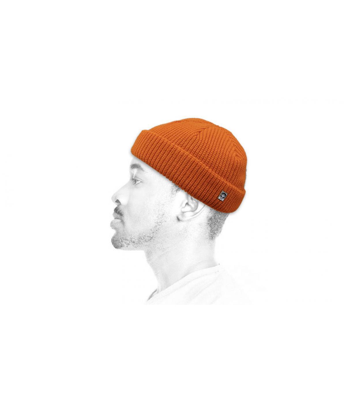 gorro docker naranja Obey