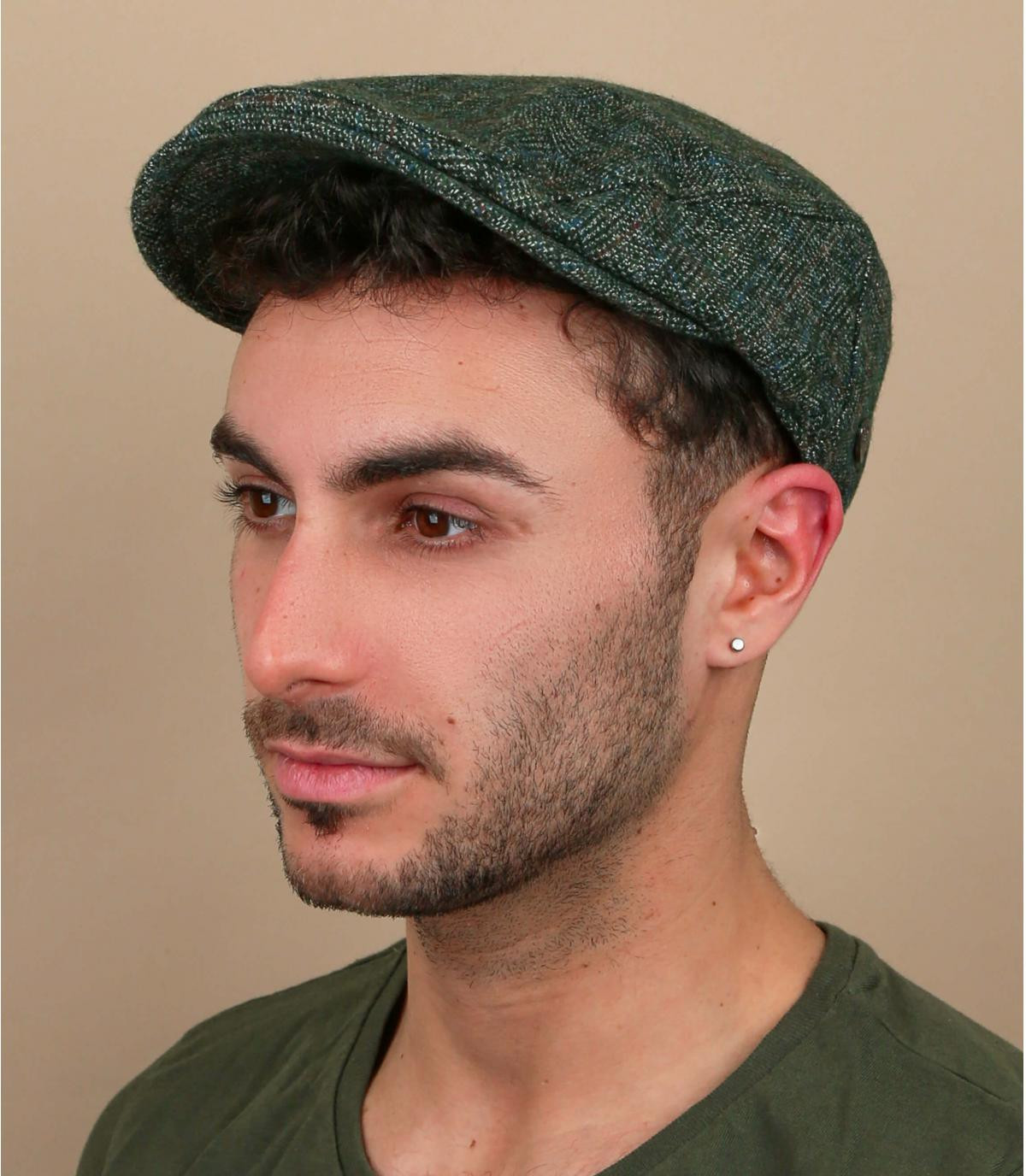 gorra cuadros verde