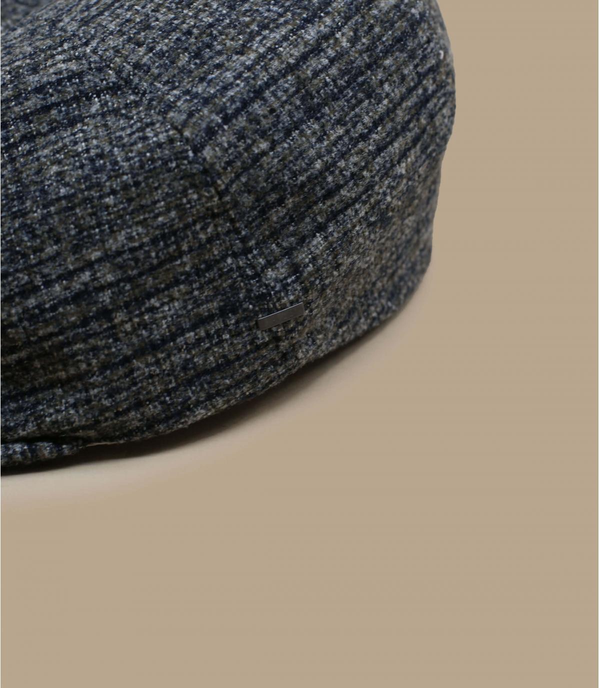 gorra gris lana cuadros
