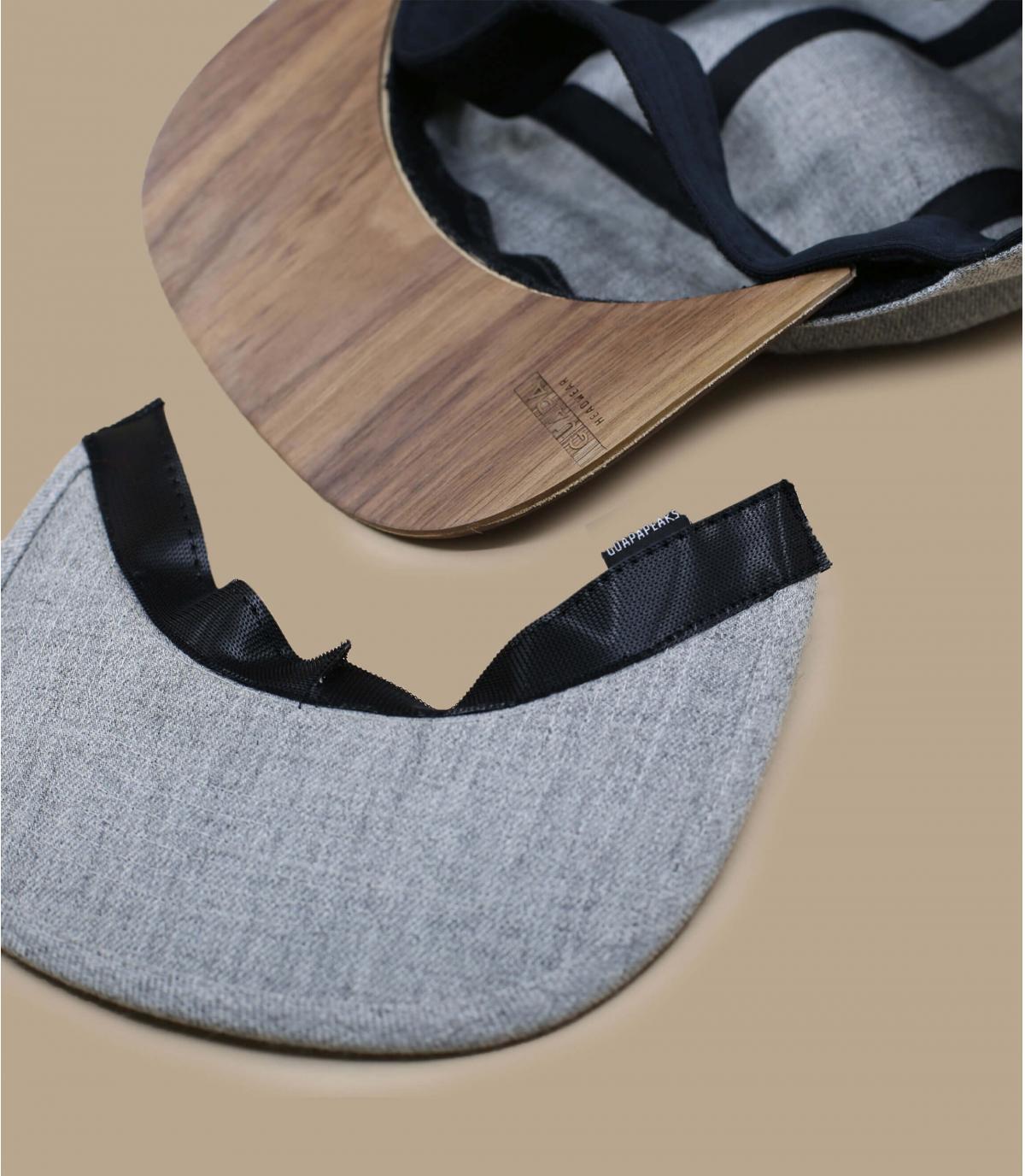 Detalles 5Panel Recycled heather grey imagen 5