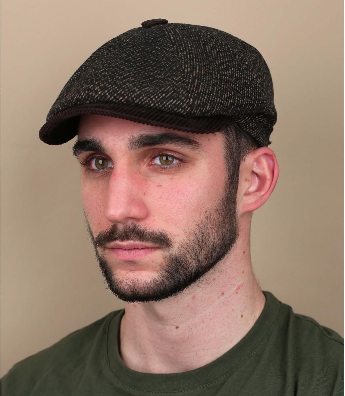 gorra repartidor marrón pana
