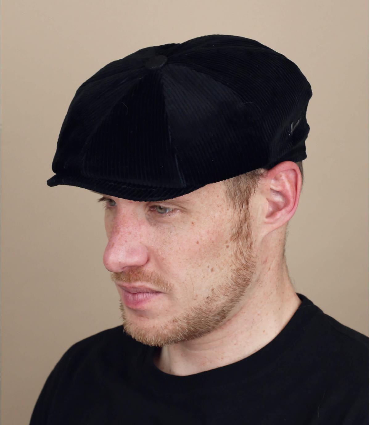 gorra repartidor pana negro