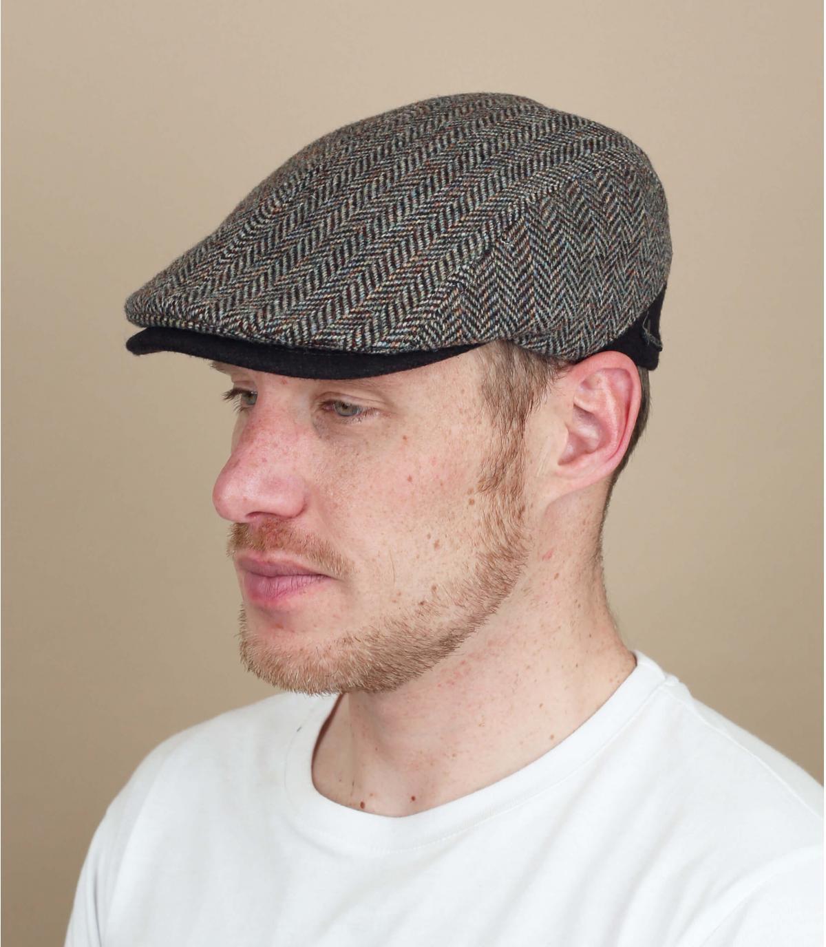 gorra marrón lana espiga