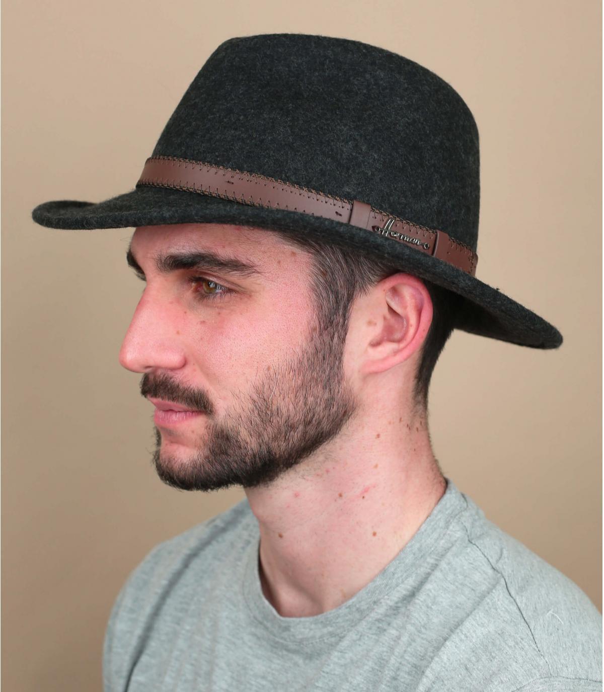 sombrero fieltro gris