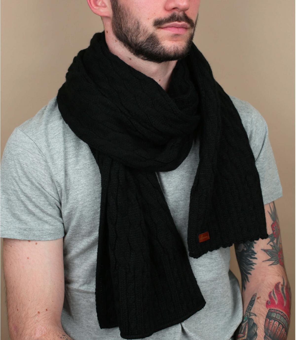 bufanda negro trenza