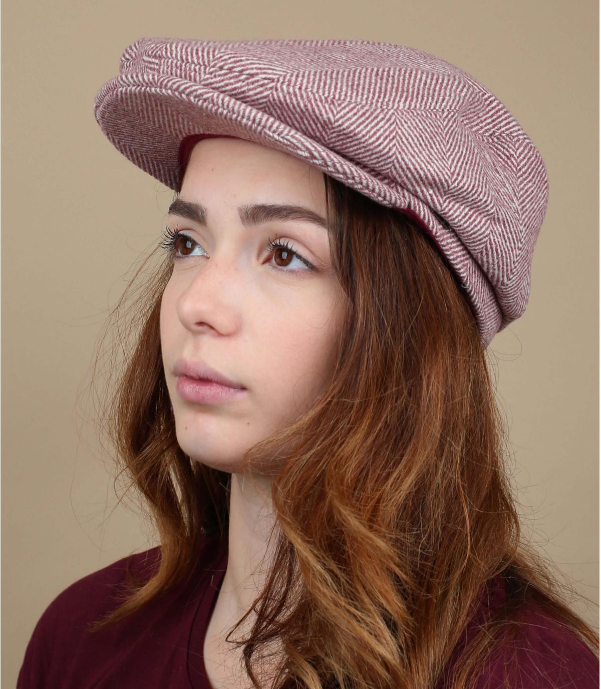 gorra rosa lana