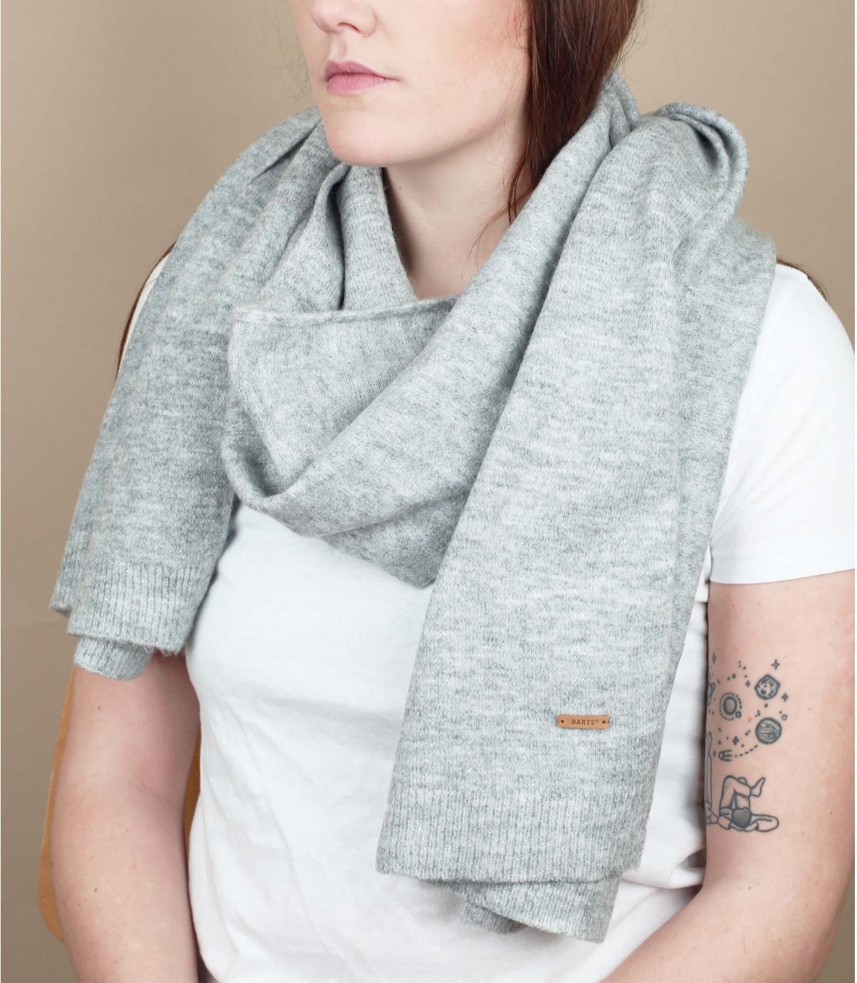 bufanda suave gris
